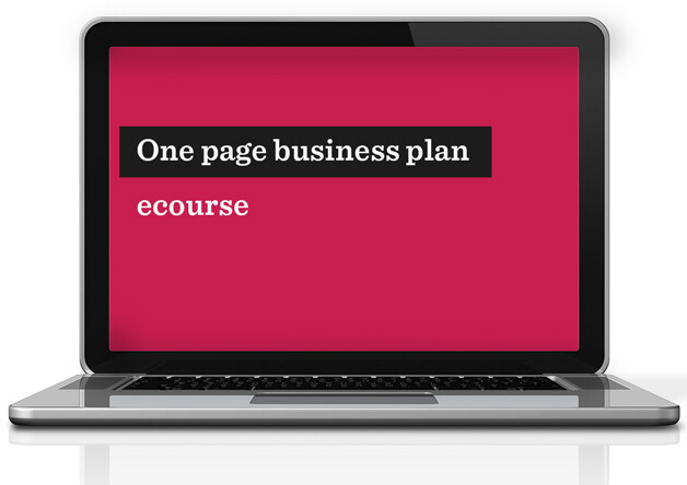 One page business plan ecourse