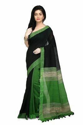 Misha Boutique Women's Cotton Saree With Blouse Piece