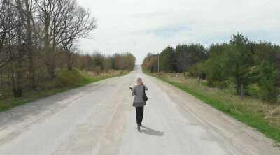 Woman on Country Road - 1