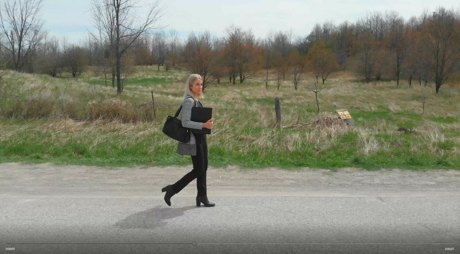 Woman on Country Road  2