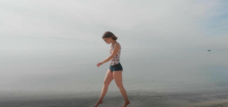 Woman On Beach - 6