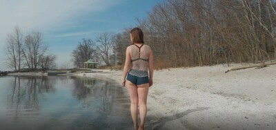 Woman On Beach - 1