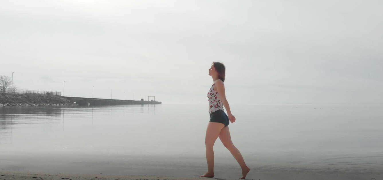 Woman On Beach - 4