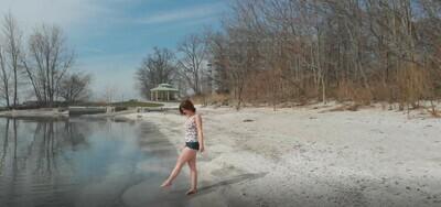 Woman On Beach - 2