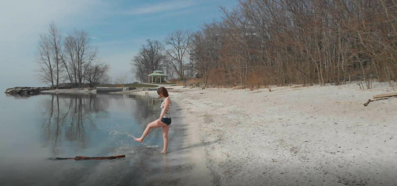 Woman On Beach -7