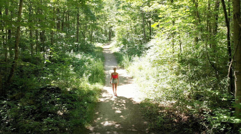 Girl Walking in Forest 102