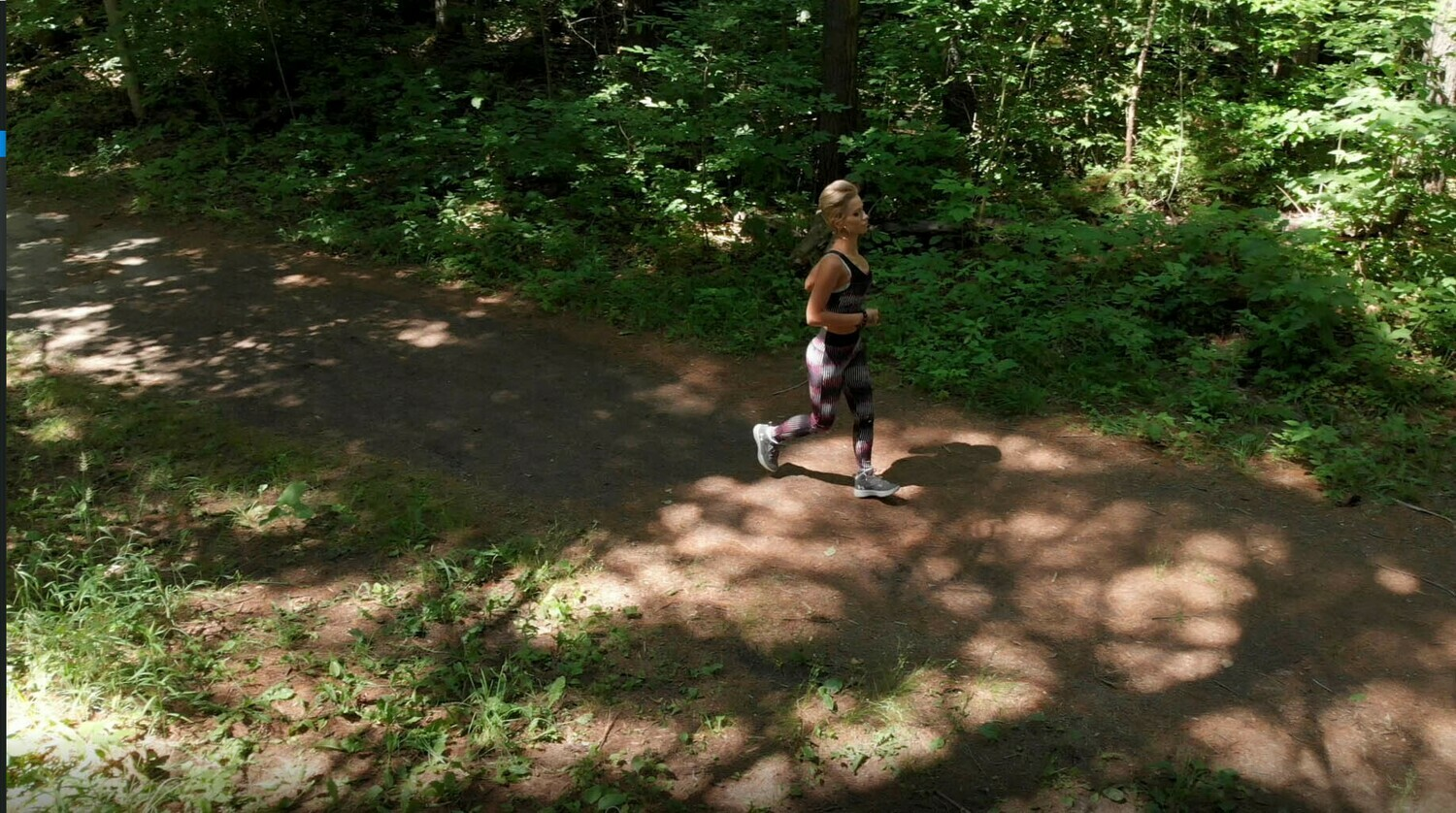Girl Jogging in Forest 108