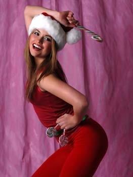 Pretty Girl in Santa Suit 1  156