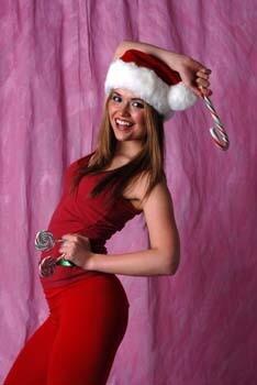 Pretty Girl in Santa Suit 2 157