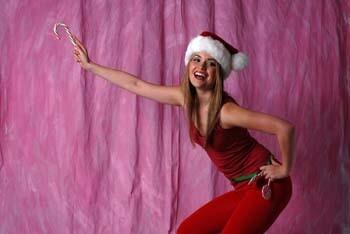 Pretty Girl in Santa Suit 3 158