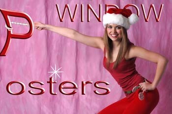 Pretty Girl with Santa Suit and Sign   296