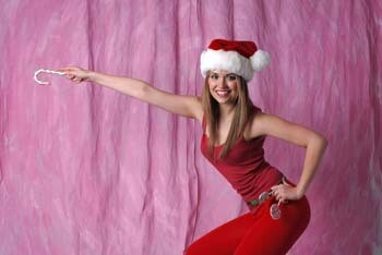 Pretty Girl with Santa Suit for Sign   297