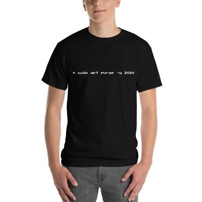 sudo apt purge -y 2020 | Short Sleeve T-Shirt