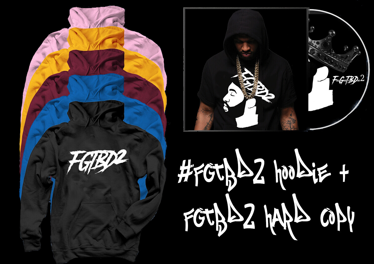 ($33 OFF) #FGTBD2 Hoodie + FGTBD2 Hard Copy + FREE GIFT