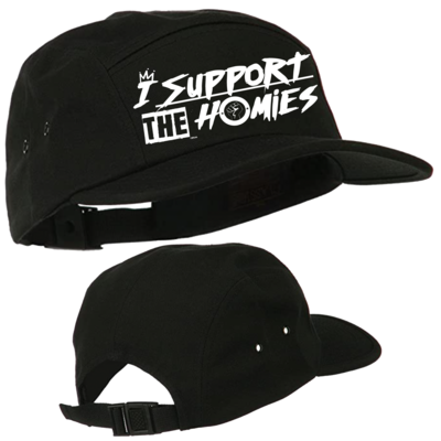 I Support The Homies 5 Panel Strap Back Hat
