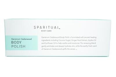 Geranium Cedarwood Body Polish By Sparitual