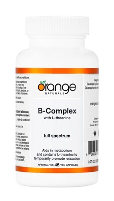 B-Complex With L-Theanine By Orange Naturals