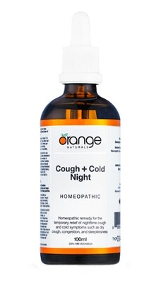 Homeopathic Cough+Cold Night By Orange Naturals