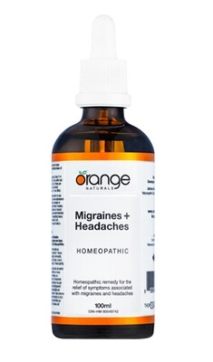 Homeopathic Migraines+Headaches By Orange Naturals