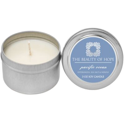 Pacific Ocean (3oz) Candle By The Beauty Of Hope