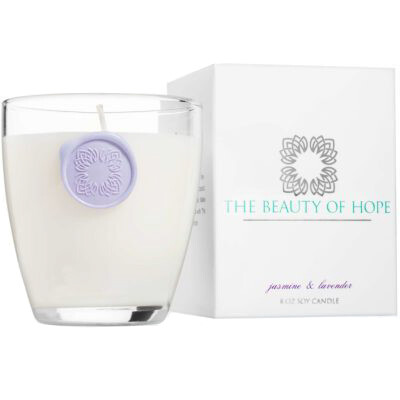 Jasmine & Lavender (8oz/3oz) Candle By The Beauty Of Hope