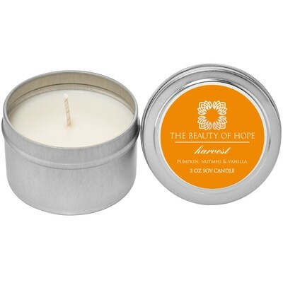 Harvest (3oz) Candle By The Beauty Of Hope