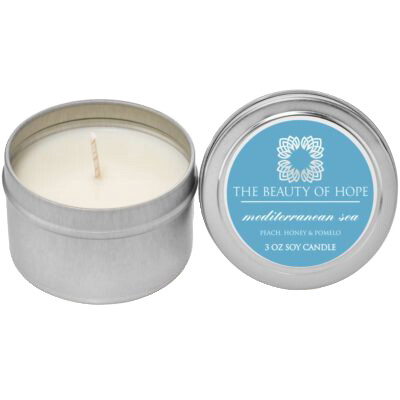 Mediterranean Sea (3oz) Candle By The Beauty Of Hope