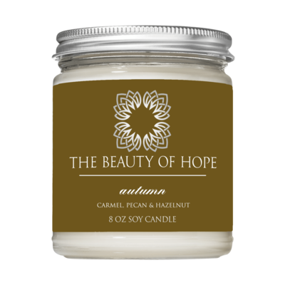 Autumn (8oz) Candle By The Beauty Of Hope