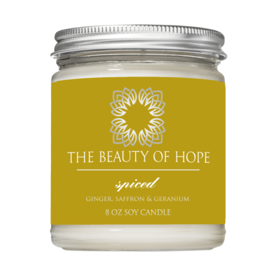 Spiced (8oz) Candle By The Beauty Of Hope