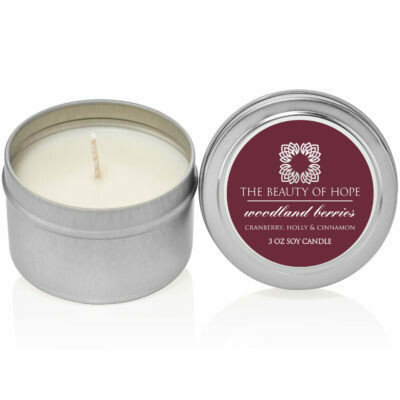 Woodland Berries (3oz) Candle By The Beauty Of Hope