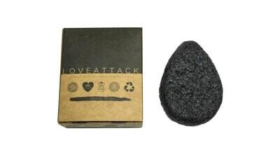 Organic Biodegradable Charcoal Konjac Sponge By Love Attack