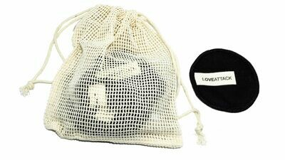 Reusable Organic Cotton Facial Rounds (Black) By Love Attack