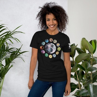 Shield Wheel Color Short-Sleeve Unisex T-Shirt