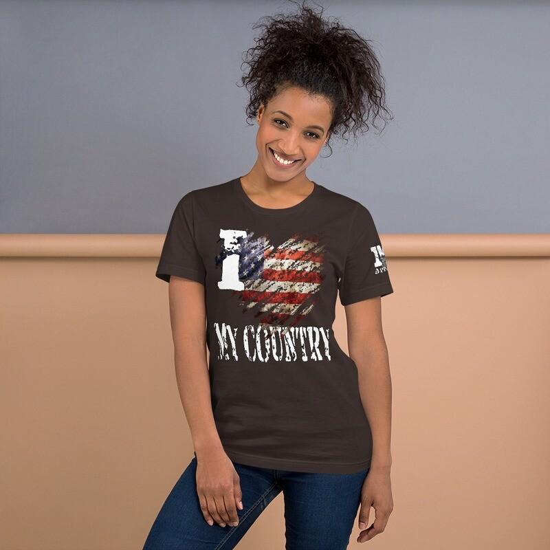 I Heart My Country Flag Short-Sleeve Unisex T-Shirt