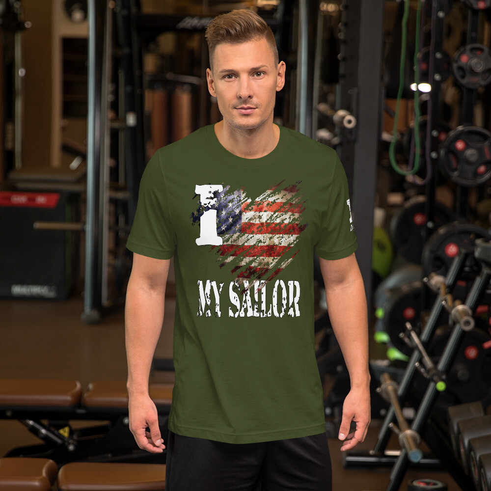 I Heart My Sailor Color Short-Sleeve Unisex T-Shirt