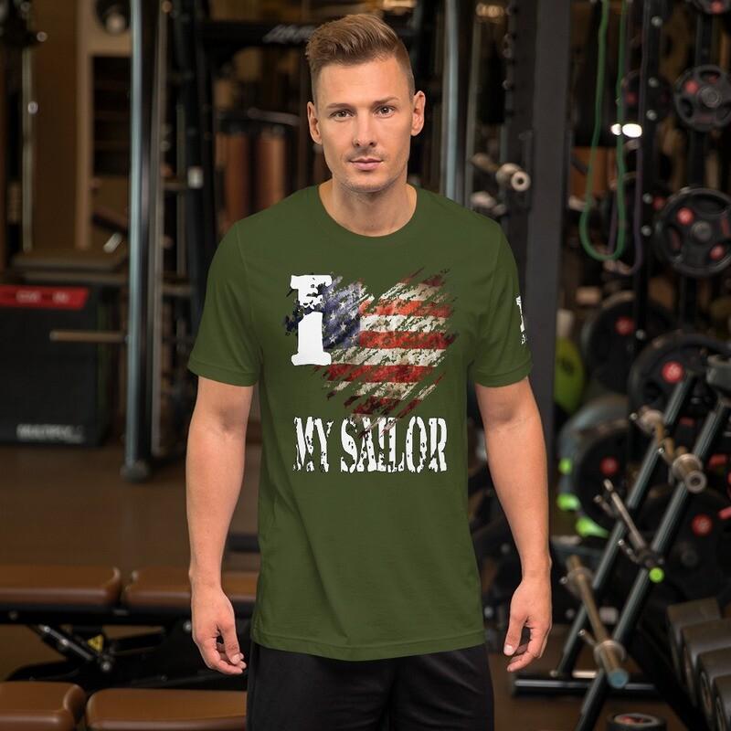 I Heart My Sailor Color Short-Sleeve Unisex T-Shirt
