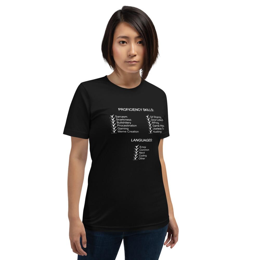 Proficiency Status Checks Short-Sleeve Unisex T-Shirt
