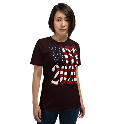 Vote 2020 Color Flag Short-Sleeve Unisex T-Shirt