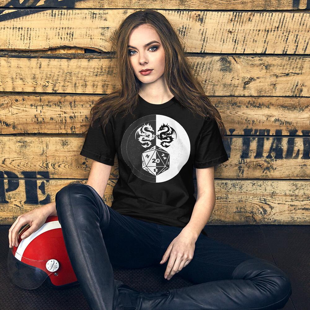 B & W DM Shield Short-Sleeve Unisex T-Shirt