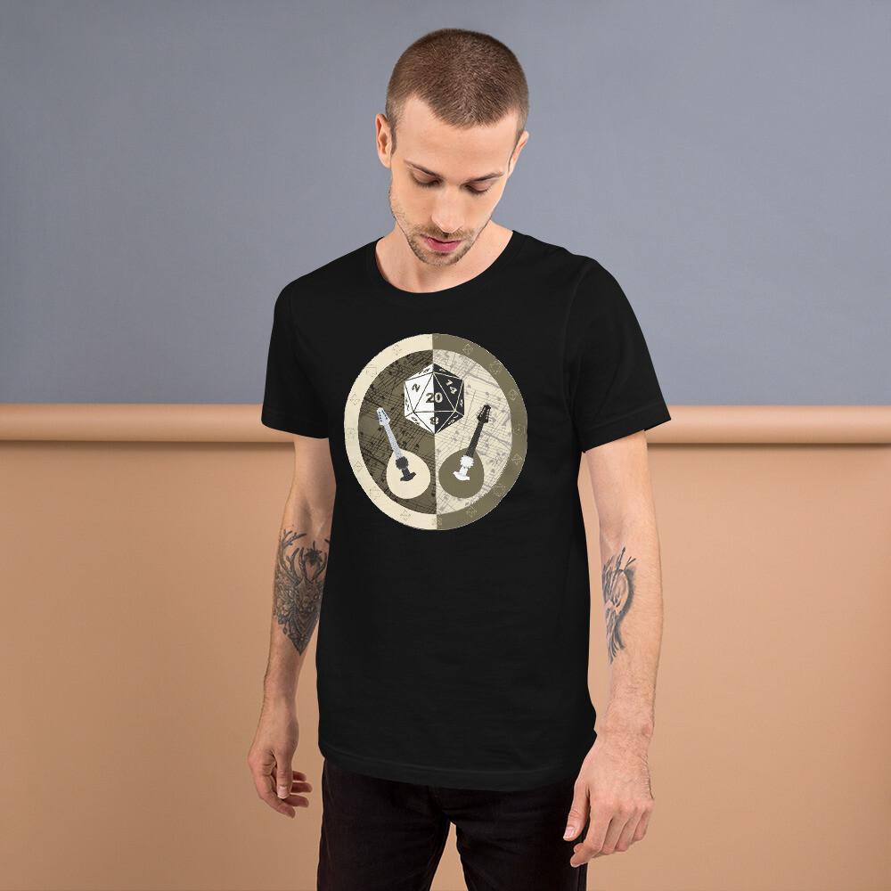 Bard Gamer Dungeon Shield Short-Sleeve Unisex T-Shirt