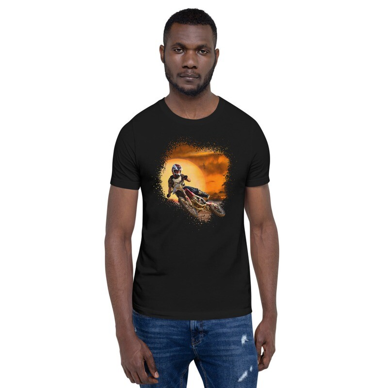 Sunset Dirt Bike Short-Sleeve Unisex T-Shirt