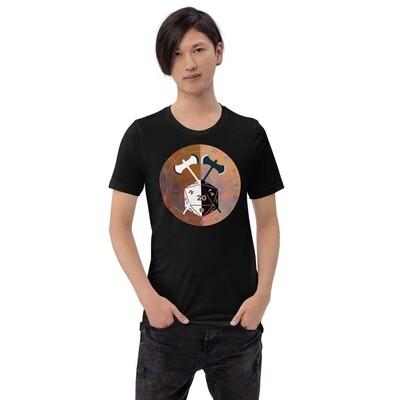 Barbarian Gamer Dungeon Shield Short-Sleeve Unisex T-Shirt