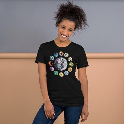D20 Game Dungeon Master Shield Short-Sleeve Unisex T-Shirt