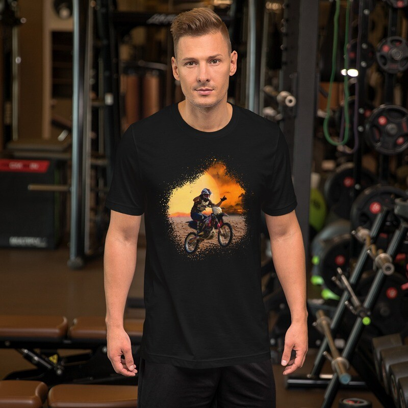 Sunset No Hands Dirt Bike Short-Sleeve Unisex T-Shirt