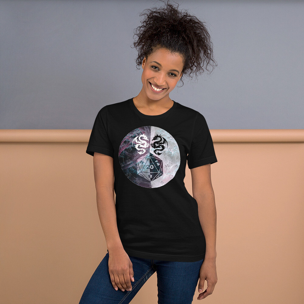 D20 Dungeon DM Gamer Short-Sleeve Unisex T-Shirt