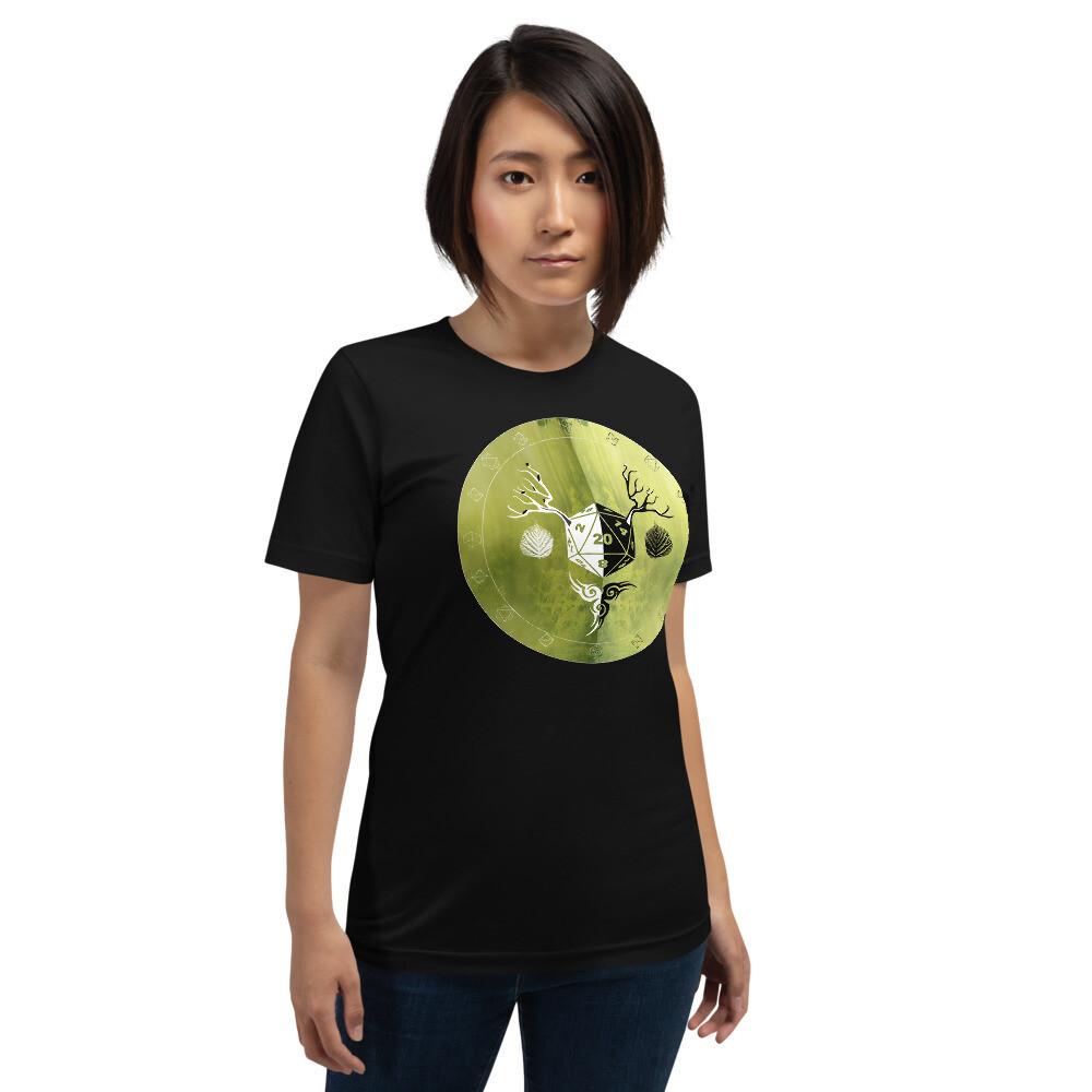 Druid Gamer Dungeon Shield Short-Sleeve Unisex T-Shirt