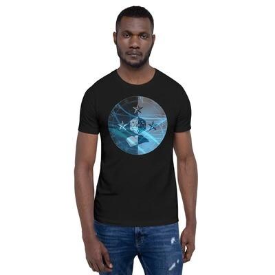 Wizard Gamer Dungeon Shield Short-Sleeve Unisex T-Shirt