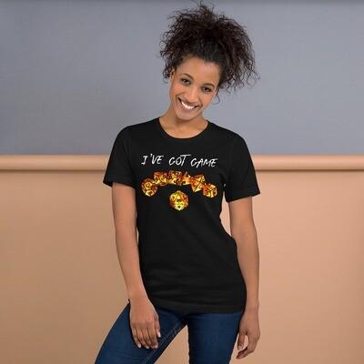 I've Got Game D20 Fire Dice Short-Sleeve Unisex T-Shirt