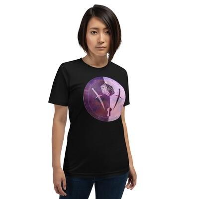 Rogue Gamer Dungeon Shield Short-Sleeve Unisex T-Shirt