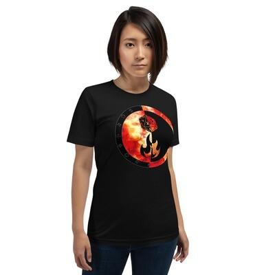 Sorcerer Gamer Dungeon Shield Short-Sleeve Unisex T-Shirt